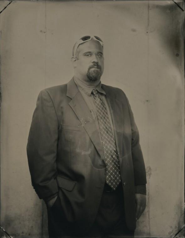 Ari Meil, tintype, 9in x 7 in