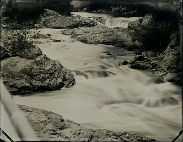 Bad Little Falls, Machias River, Machias, Maine. Tintype, 3.5 x 4.5 inches