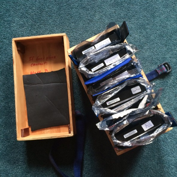 There are currently 12.5 TB of drives in this relatively small box my dad made for me.