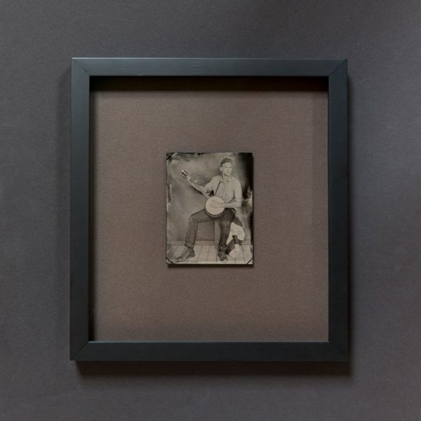 Example of a framed tintype. (This particular portrait is not for sale.)