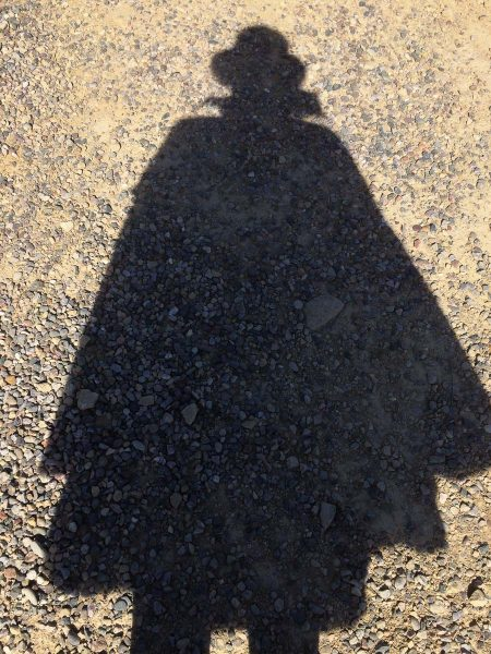 ...and another selfie. My darkcloth for my camera is the cape from a Halloween costume my mother made for me when I was a kid.