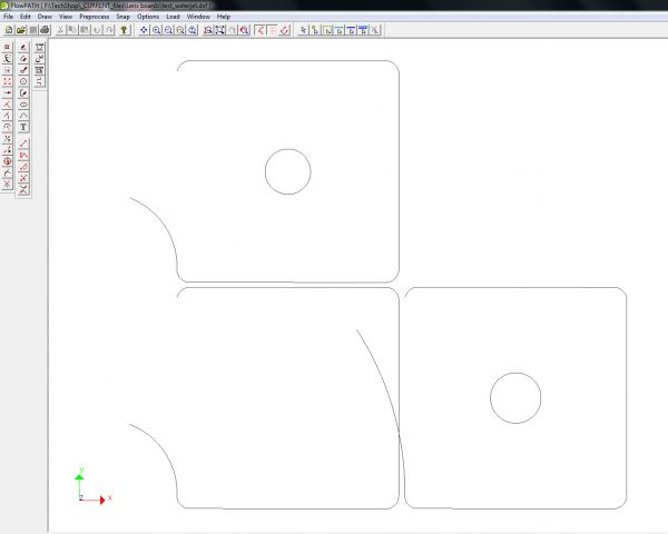 ...incorrect file in the Waterjet software.
