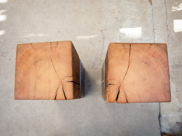 Dawson's Finest Reclaimed Wood and Steel End Table and Toe Crusher
