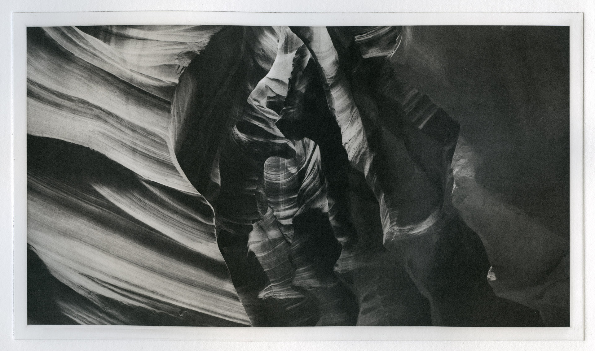 Antelope Canyon, Page, Arizona, November, 2008. Gravure print made 23-Apr-14.