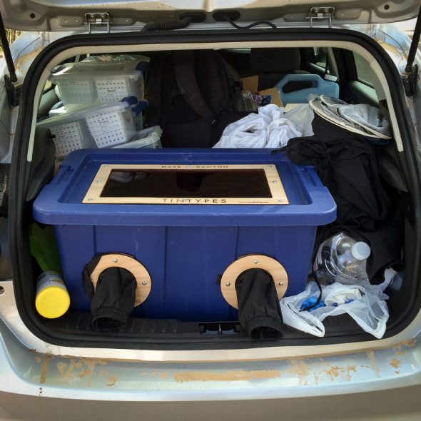 This is the darkbox that I build to fit in the back of my car.