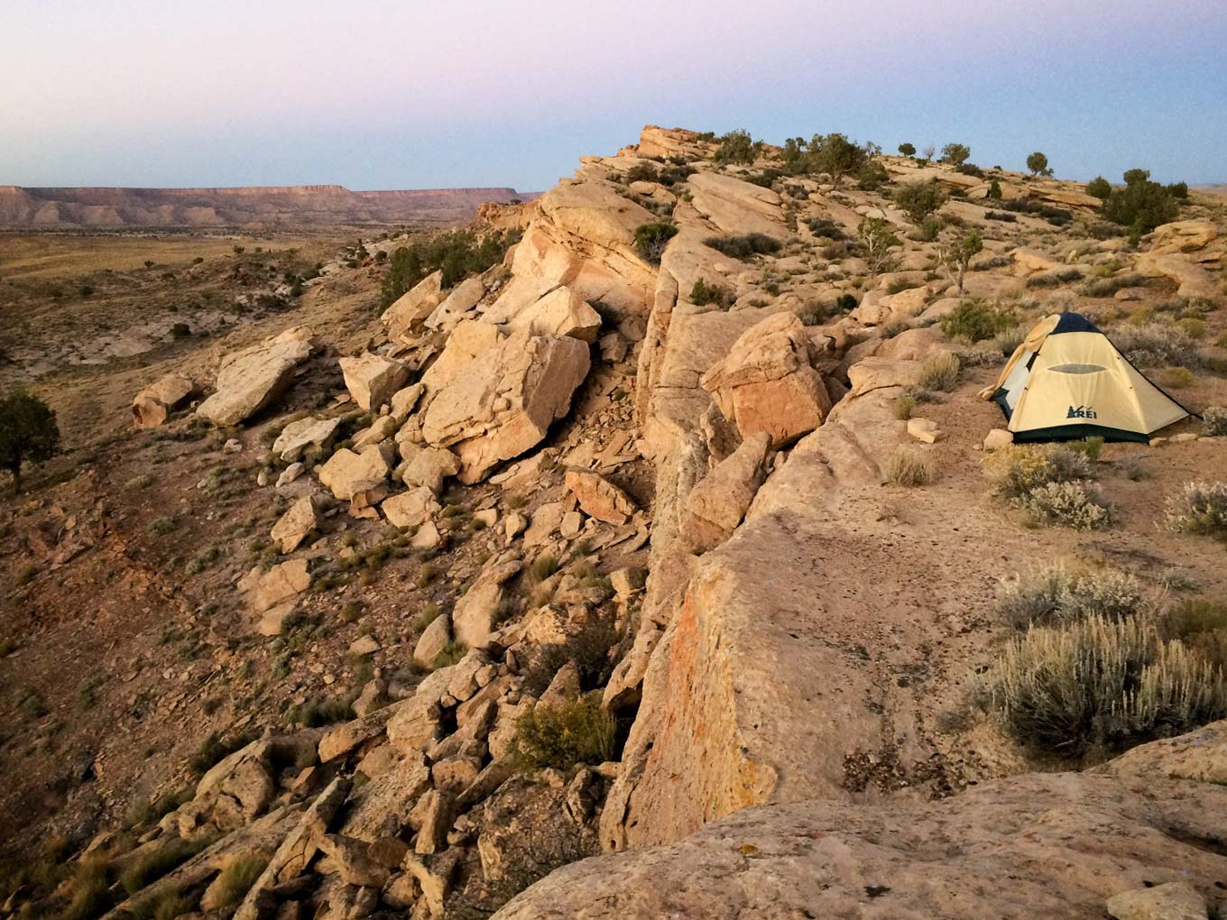 I like to pitch my tent on the edge of cliffs. Gives an added thrill to getting up in the middle of the night to pee.