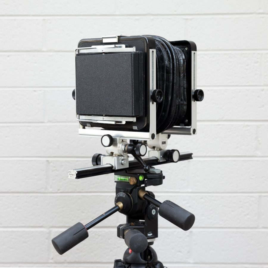 Basic black ABS plastic protective cover. Shown here on a 4x5 camera.