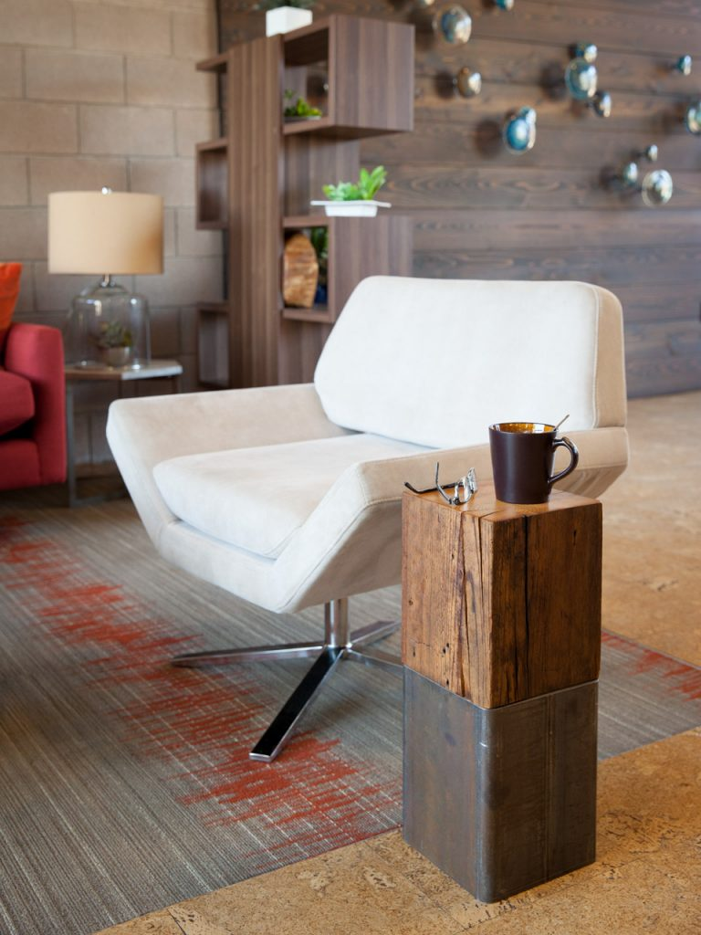 Dawson's Finest Reclaimed Wood and Steel End Table