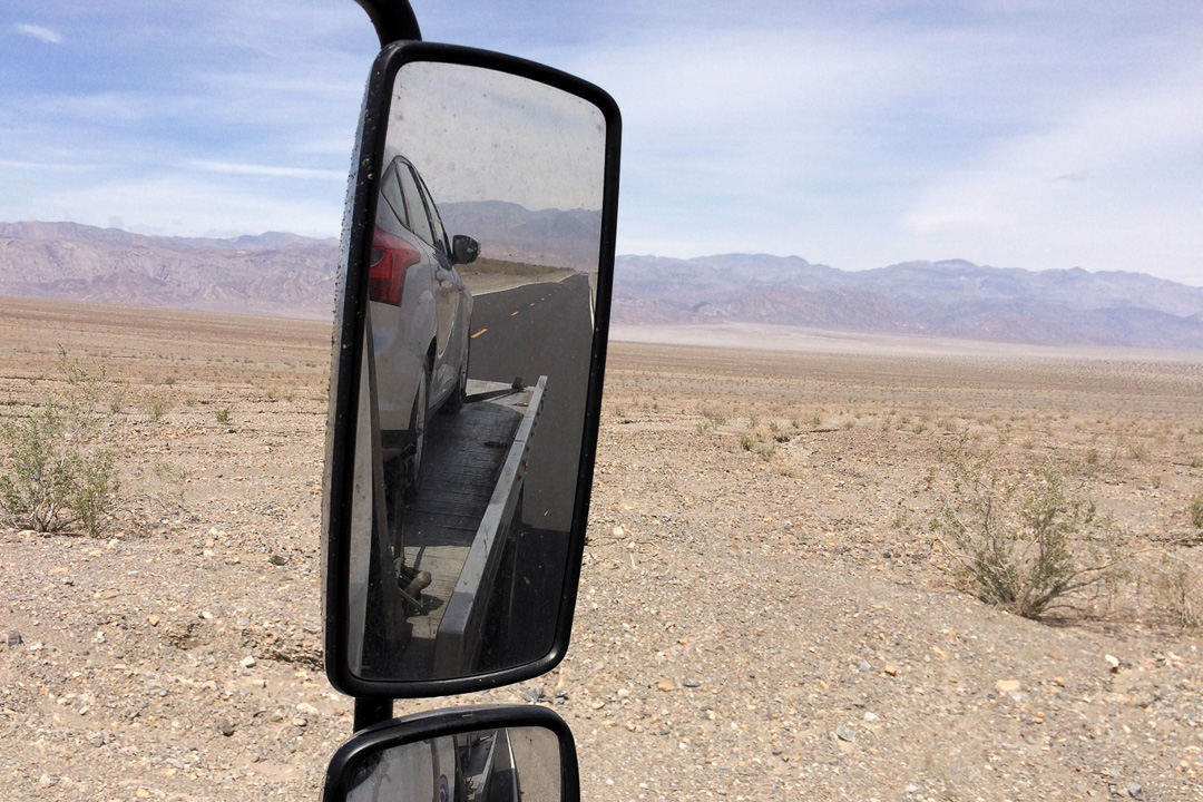 This is not how I planned to leave Death Valley.
